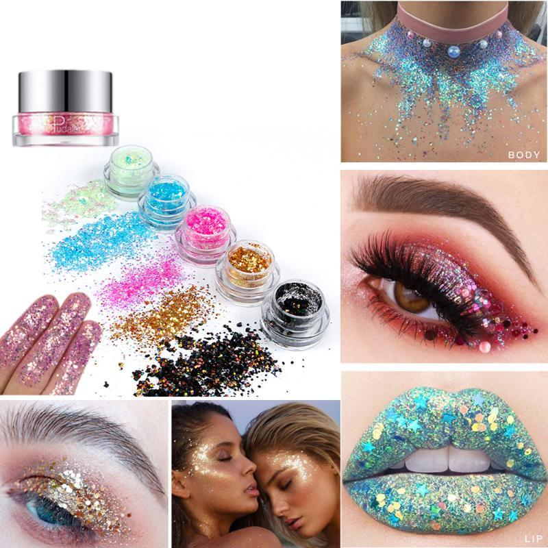 Тень для глаз блестки блестки гель 34 цвет ярко-блесток крем из вспышки макияж блестящие ногти DIY тело красота губы оттенок косметический