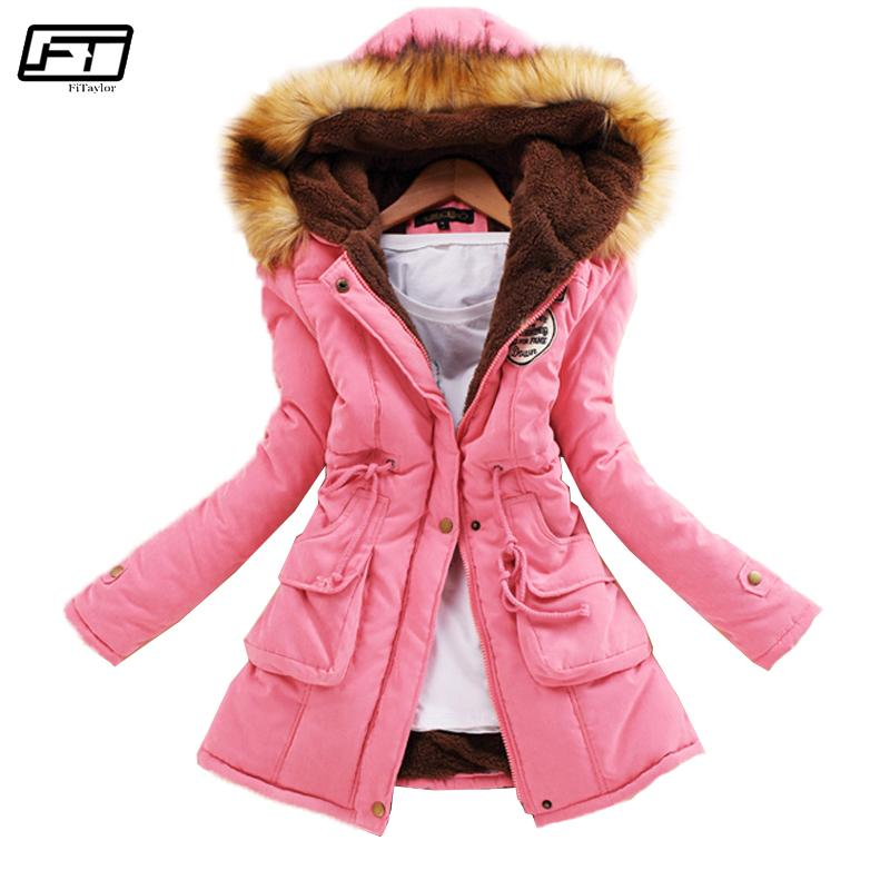 Fitaylor Winter Plus Size Jacket Women Warm Hooded Parka Mujer Thick Cotton Black Padded Coat Female Long Paragraph Jackets 201016