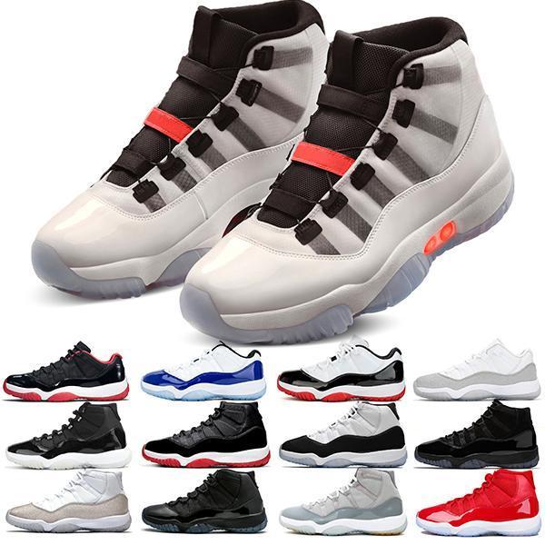 Kaliteli Jumpman 11 11S Basketbol Ayakkabıları 25. Yıldönümü Soğuk Gri Gri Bred Concord Şapka ve Robe UC Erkek ve Kadın Spor Ayakkabıları