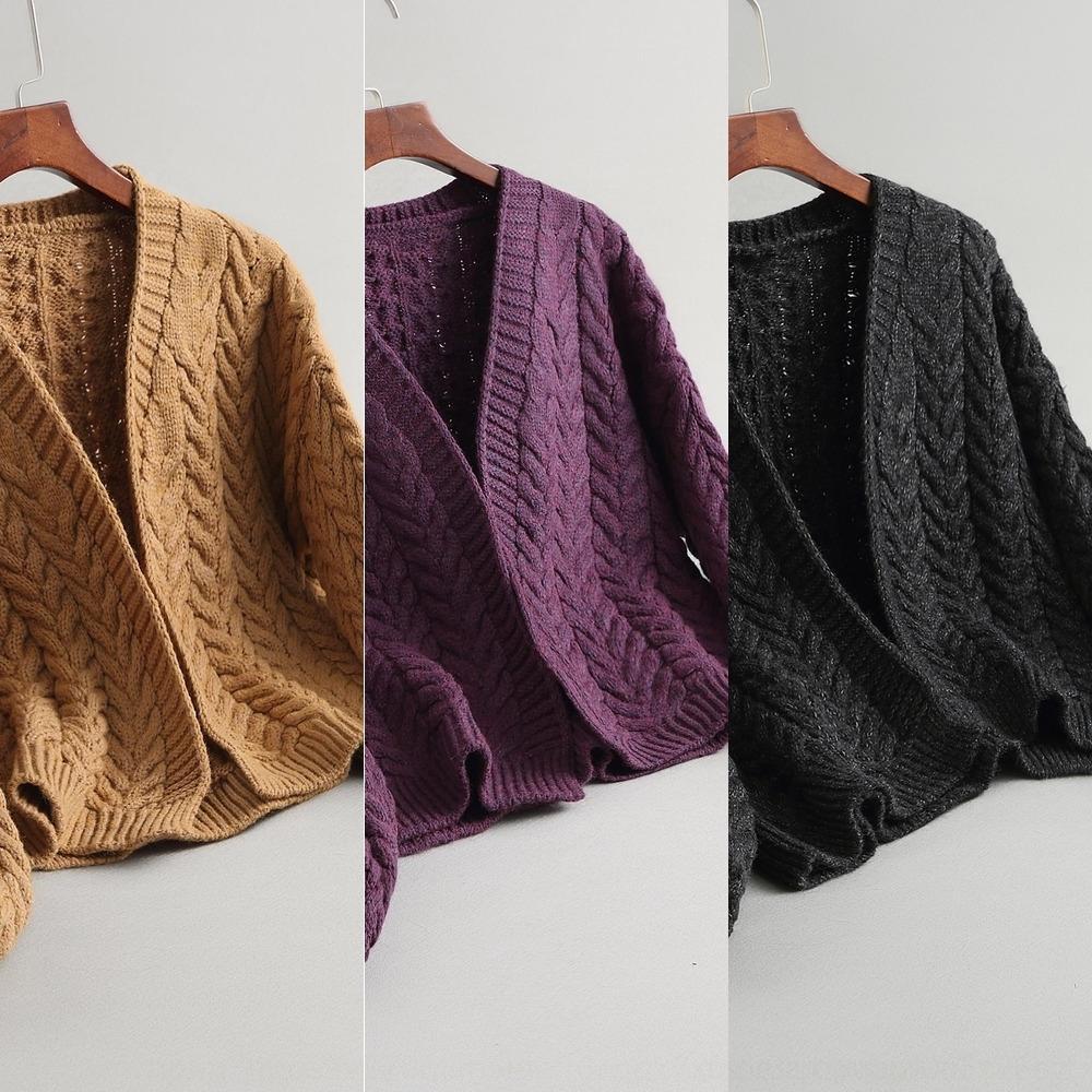 2020 Jiazhi otoño tejer chaqueta de punto de manga larga k3ZgQ Jiazhi 8-3321 8-3321 de la mujer gruesa otoño 2020 grueso de la torcedura de la chaqueta chaqueta de giro de la mujer