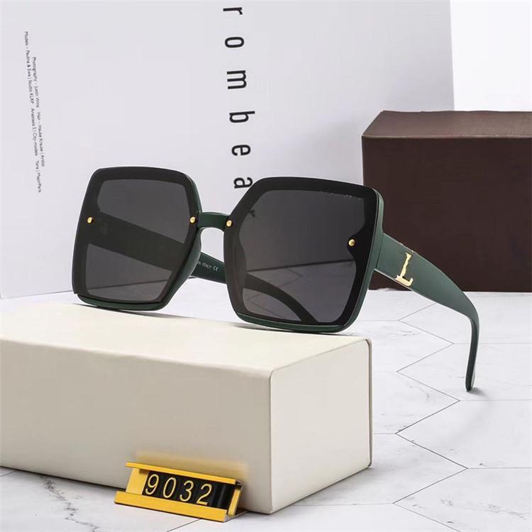 Case Sun UV400 Поляризованные Топ Солнцезащитные Очки Очки Аксессуары Для Моды Женщина Человек Качественные Линзы Кожаные Роскошные Ткань Коробка Дизайнер Aivul