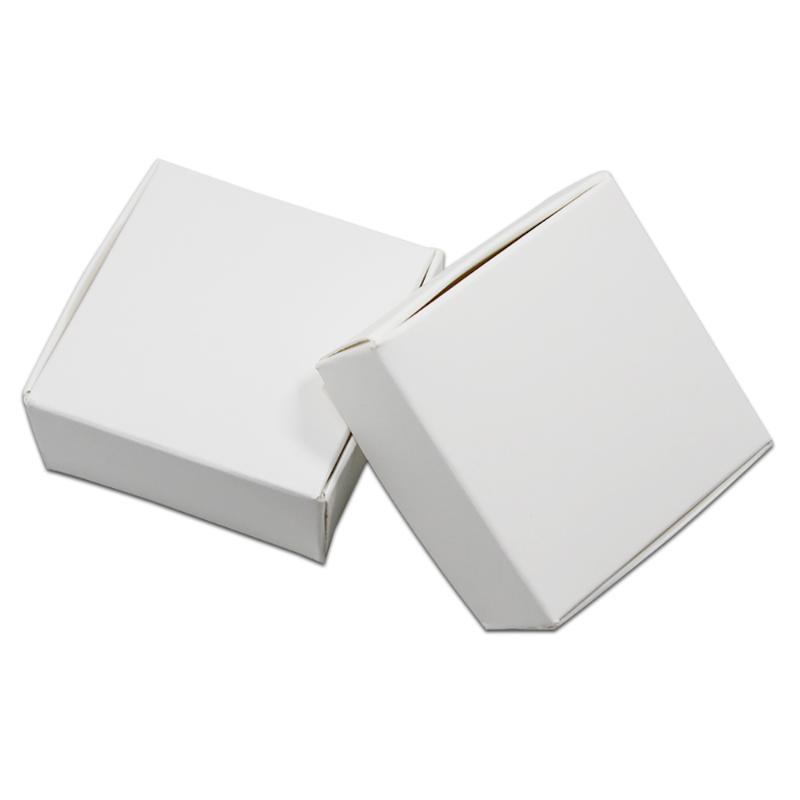 9 размеров Упаковка для подарков Белый картонного свадьбы пользу коробка для ювелирных изделий конфеты Шоколад пекарня торт DIY мыло Упаковка партии