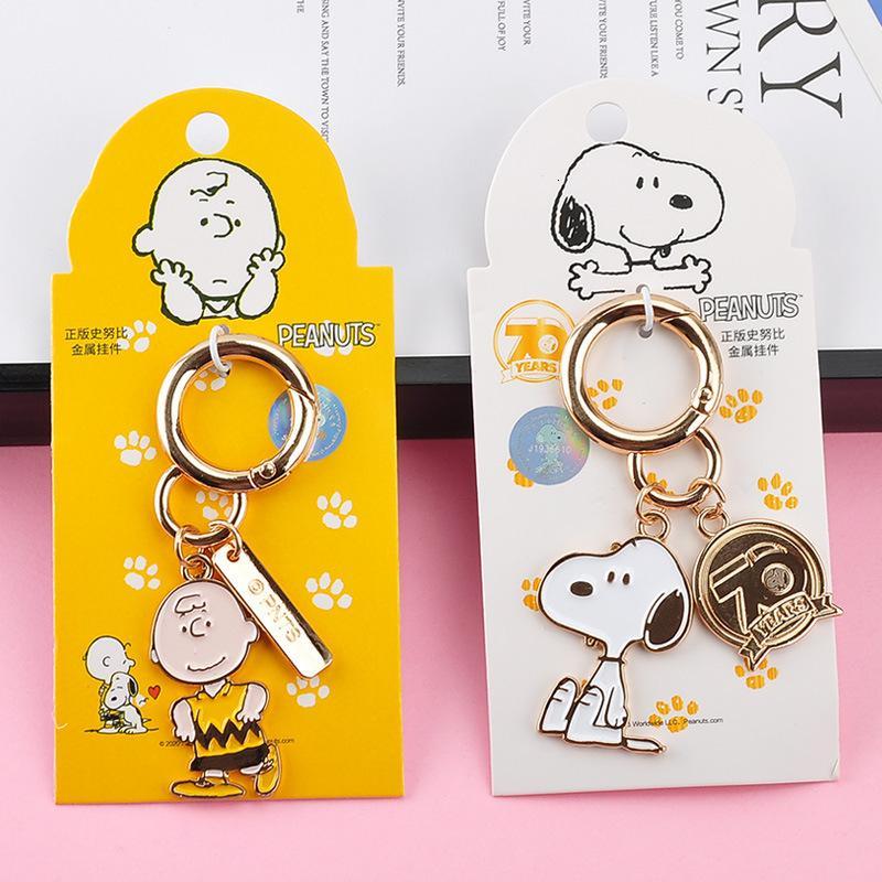 Echtes Snoopy Auto Weibliche Schöne Kreative Paar Anhänger Cartoon Metall Schlüsselanhänger Tasche