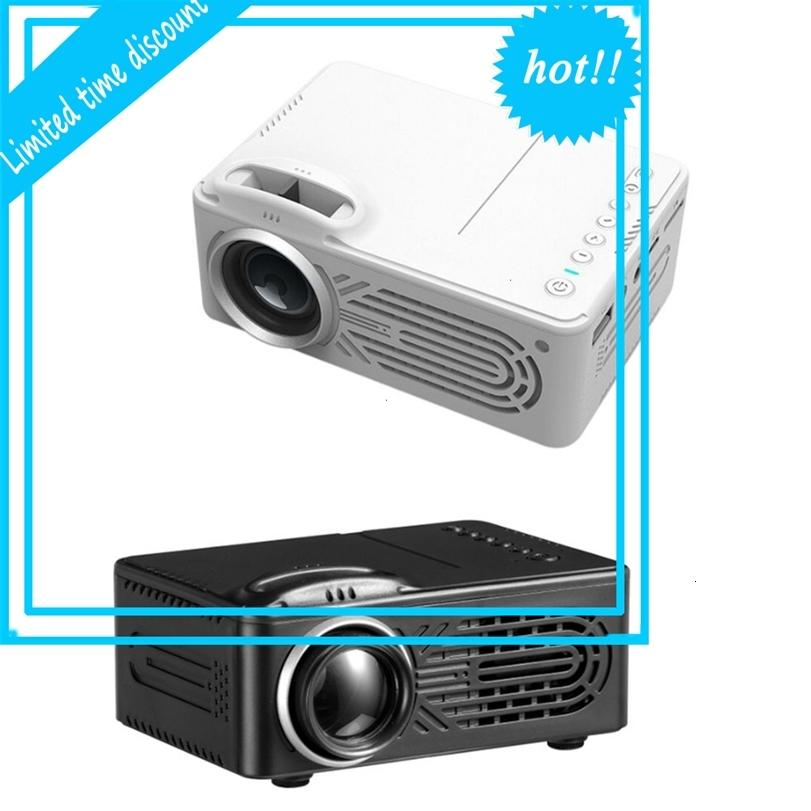 814 LED Mini con soportes de medios de comunicación de USB 1080P Proyector portátil de altavoz incorporado