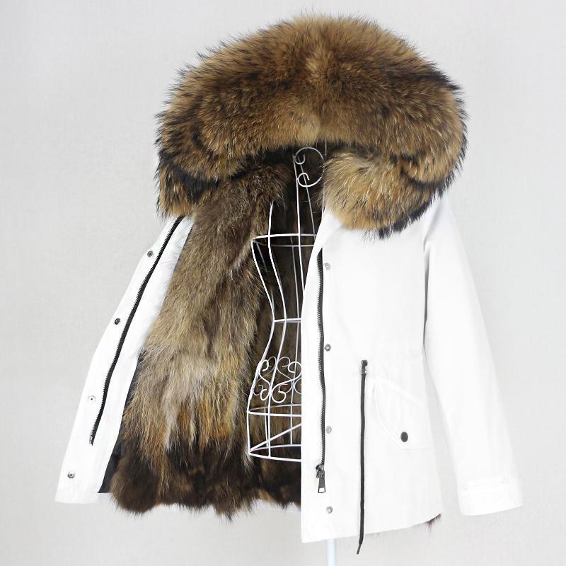 OFTBUY 2020 Водонепроницаемый Parka Real Fur Coat Natural енота меховым воротником Hood зимняя куртка женщин Warm Верхняя одежда Съемная New