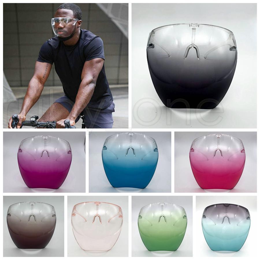 Marco de seguridad para Visor con los vidrios transparente para toda la cara cubierta protectora de la máscara anti-vaho careta Claro Máscaras de diseño RRA3798