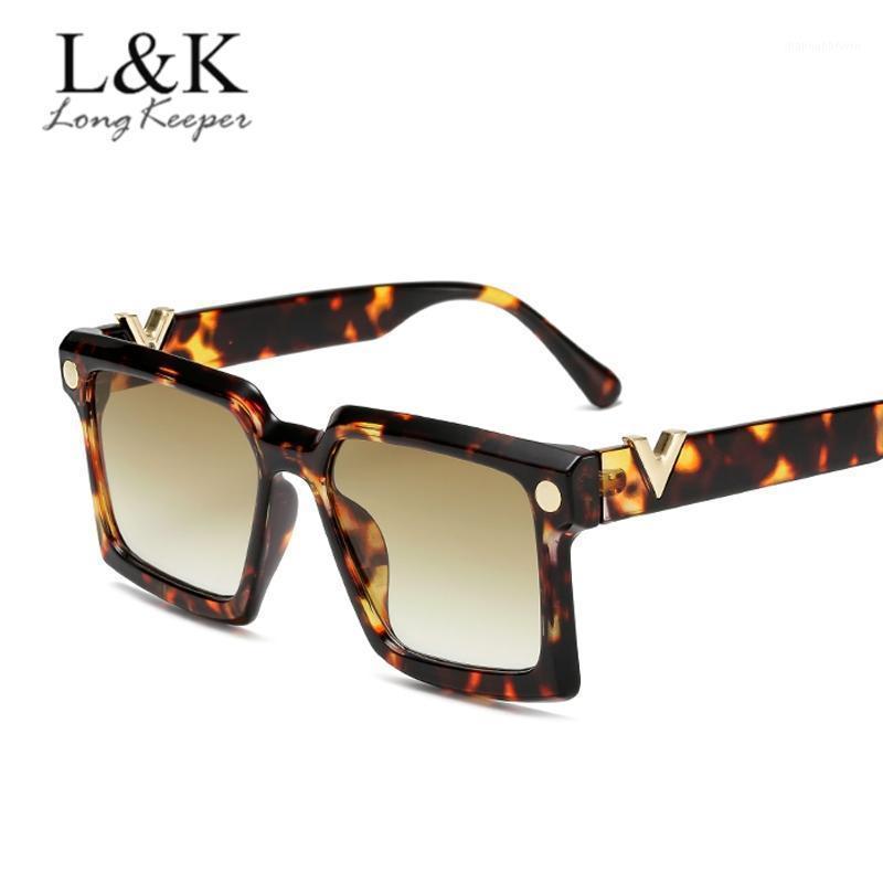 2020 Nuevas gafas de sol de gran tamaño cuadrado Mujeres degradado Gafas de sol de moda Moda Gafas de marco grande UV400 de alta calidad1