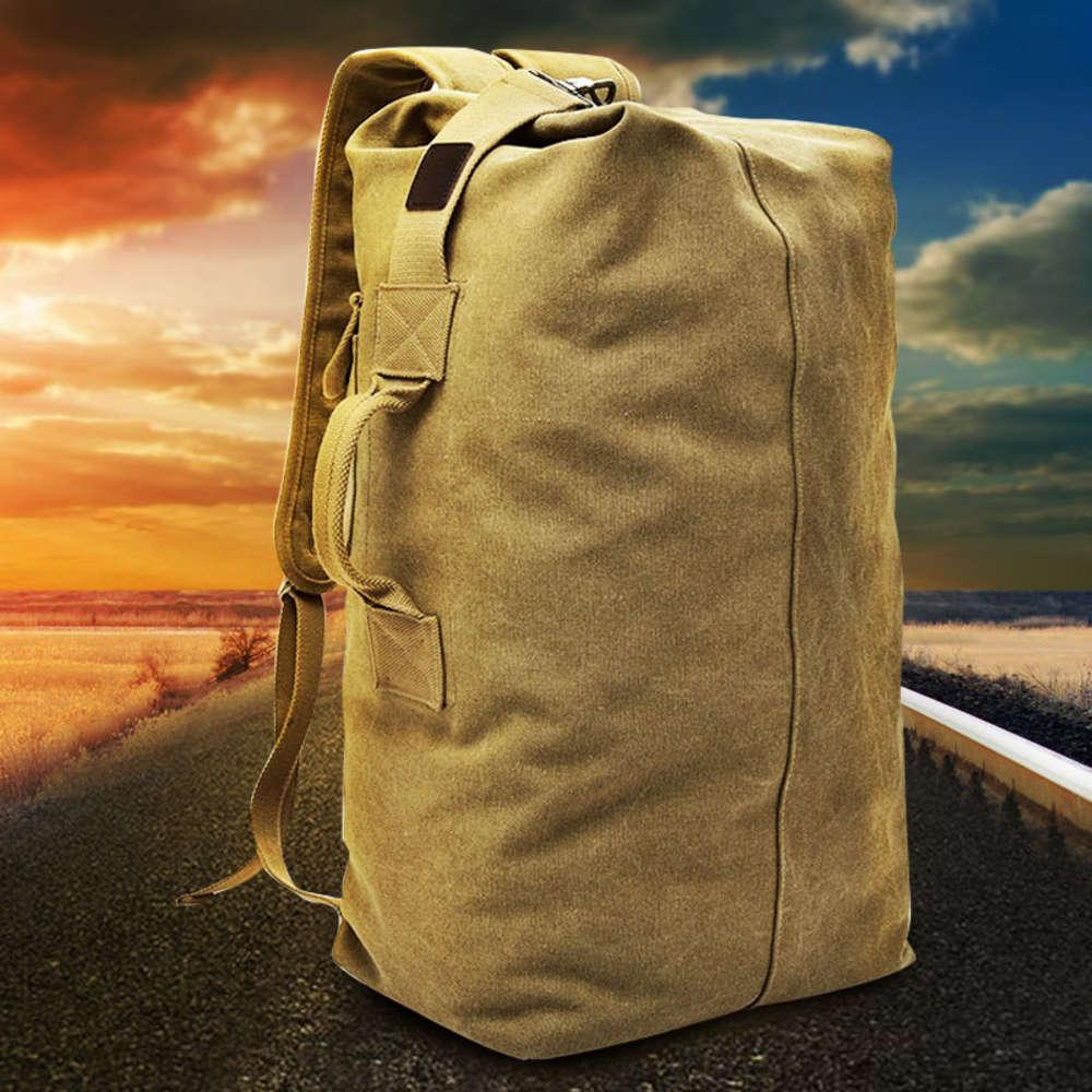 Рюкзак открытый путешествия ведро рюкзак холст альпинизм мужская супер пожарная индивидуальность большой емкости багаж