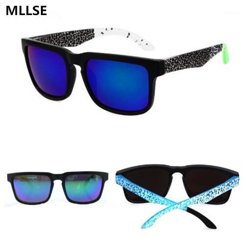 Gafas de sol Ken Block Hombres Diseñador de la marca Gafas de sol S Plaza de recubrimiento reflectante espiado para mujeres Rectángulo Gafas de Sol1