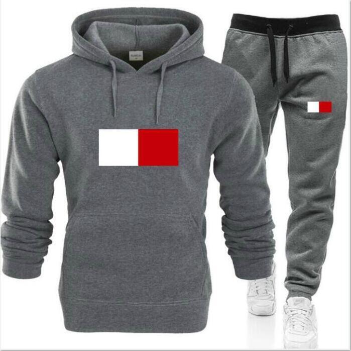 Moda para hombre suéter se adapta a los chándales para hombre Swearst Traje deportivo Traje de las mujeres Chaqueta de jogging Sudadera Conjunto y pantalones Hombre Hoodie Sportswear Traje