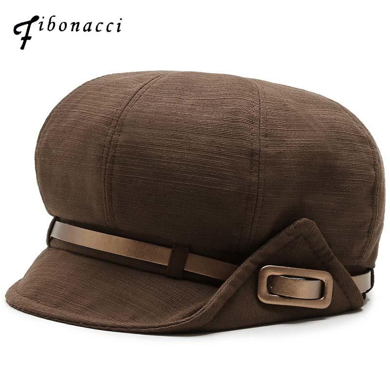 Fibonacci Retro horizontale Streifen Ballonmütze Qualitäts-Beret Gürtel Octagonal Hut für Männer Frauen Cap 201013