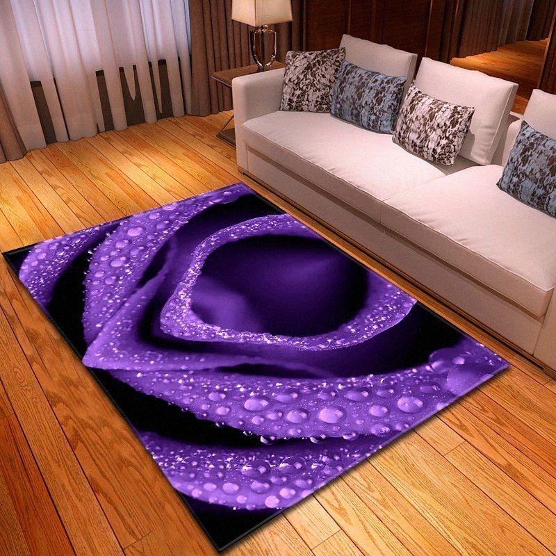 3D Blumenteppichboden Schlafzimmer Foam Vorleger Red Rose Große Teppich Wohnzimmer Haus Dekorative Kinderzimmer Wohnzimmer Bodenmatte Customized 5k0T #