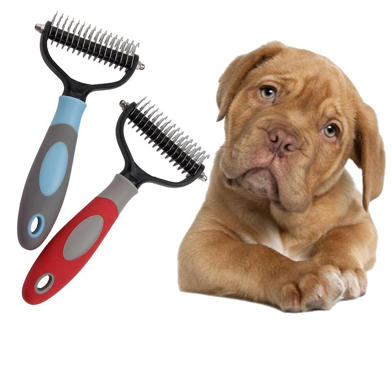 Pet Dogs Hair Removal Comb Cat Dog Fur Trimming Dematting Deshedding Brush Pet Grooming Tool Matted Long Hair Curly Comb