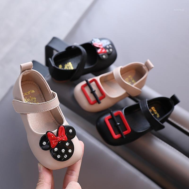 First Walkers Autumn Girls Shoes Cartoon Princess Soft Bottom Peas Baby Children Born Girl Leather1