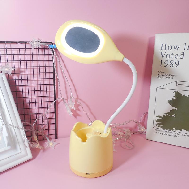 Espelho Quarto Luz de Luz LED luz para sala de mesa de mesa nightlight mesa lâmpada ler lição de casa escritório cozinha quarto decoração
