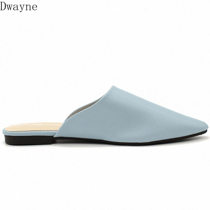 2020 Summer Flat Shoes Womens Sandals Slippers Solid Color Slippers Pointed Toe Ladies Mules Outdoor Shoes Fringe Boots Girls Shoes Fr f5zB#