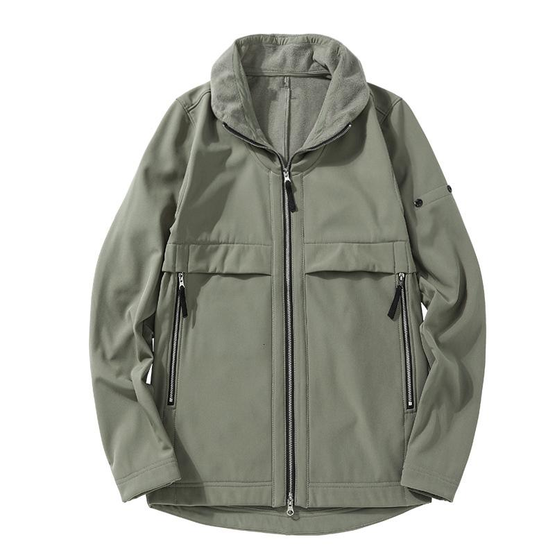 Topstoney 2020FW Konng Gonng 가을 새로운 스타일 옷깃 부드러운 쉘 패션 자켓 두꺼운 봉제 망 겨울 코트 가져온 패브릭