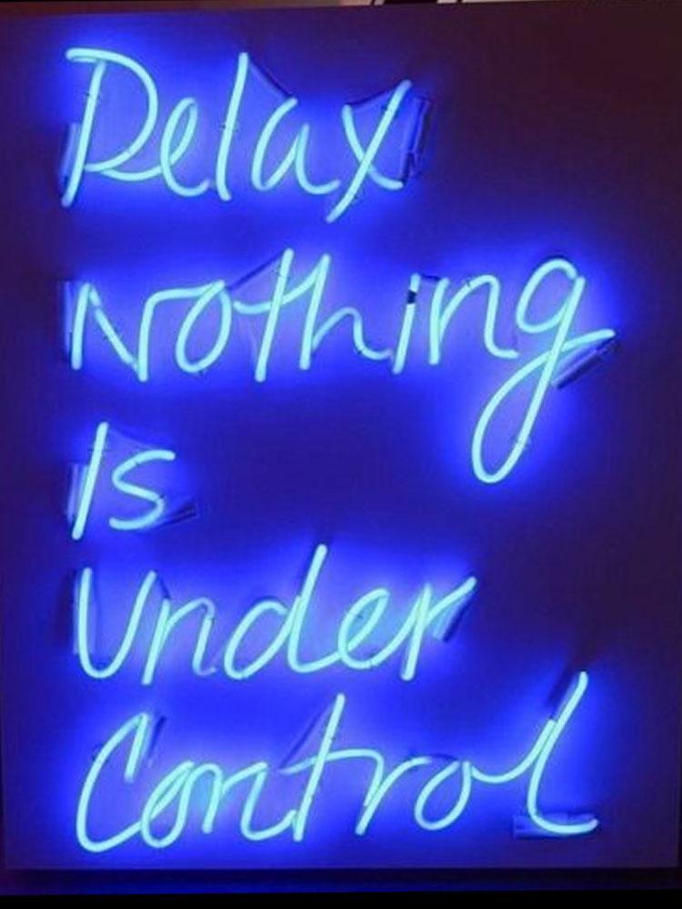 Neon Sign Per niente rilassarsi è sotto il controllo del club lampade resterant decorare Light Hotel DISPLAY Business Impact Attrarre luce