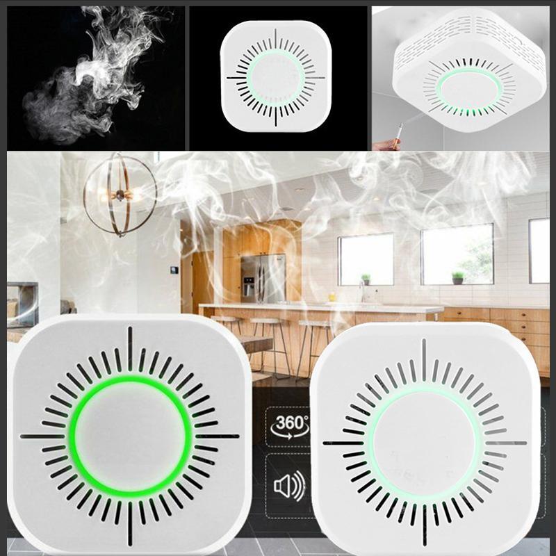 كاشف الدخان اللاسلكي 433 ميجا هرتز حماية إنذار حماية الأمن لأتمتة المنزل الذكي، والعمل مع تطبيق eWelink