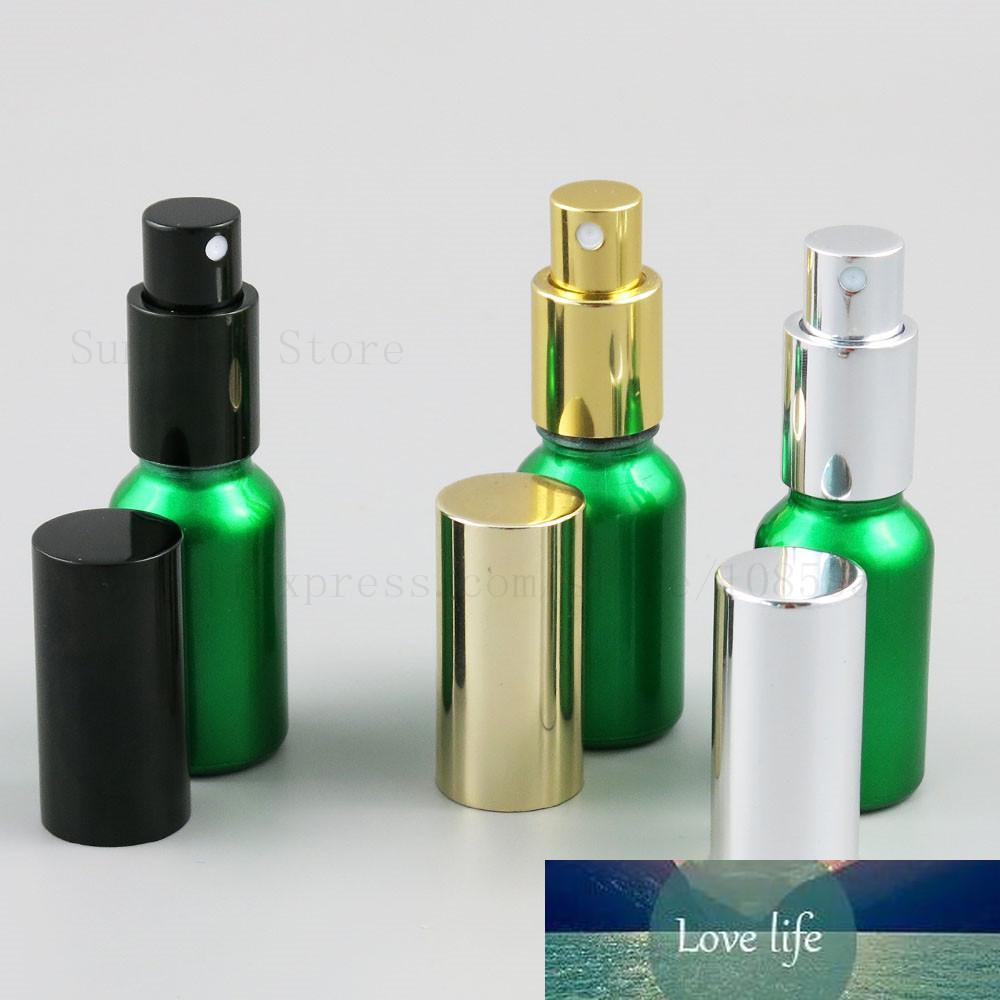 15ml 20ml rechargeable pulvérisateur de pulvérisateur de pulvérisateur de pulvérisateur de conteneur liquide Atomizer de parfum d'atomiseur de voyage échantillon d'échantillon de bouteille d'or noirs 20pcs