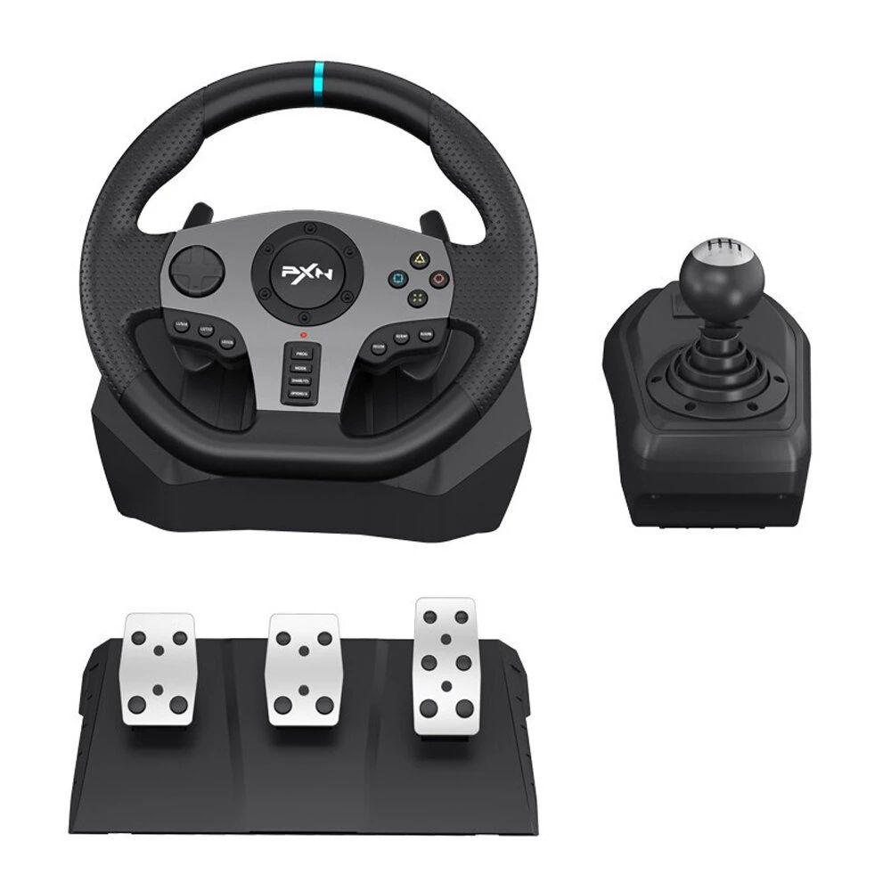 PXN-V9 الألعاب عجلة القيادة دواسة الاهتزاز سباق عجلة 900 دوران لعبة تحكم ل Xbox One 360 PS 3 4 ل Nintendo Switch