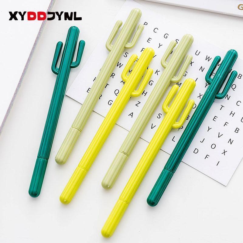 1 قطع kawaii الصبار هلام القلم الكورية القرطاسية 0.5 ملليمتر الاطفال الكتابة النبات هلام القلم مدرسة مكتب اللوازم لطيف هدية 11