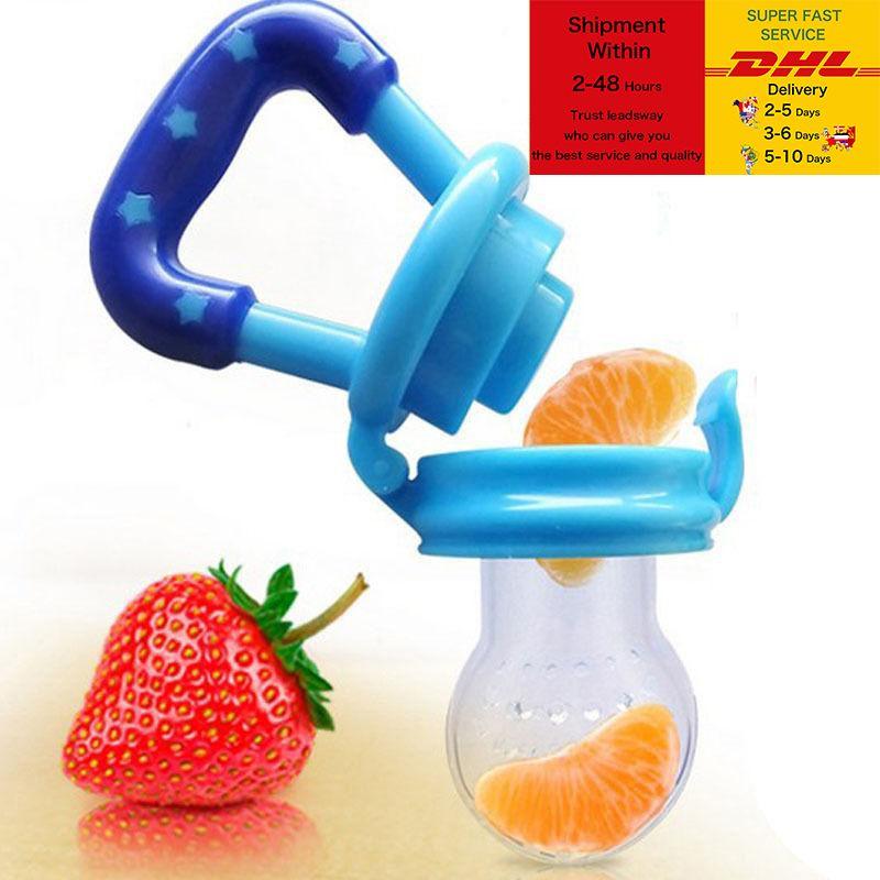 Baby-Lebensmittel-Feeder-Baby-Schnuller-Feedin-Kleinkind Kinderkrankheiten Spielzeug Beißring Food Grade Silikon-Taschen für Kleinkinder und Kinder DHL-freie Fracht