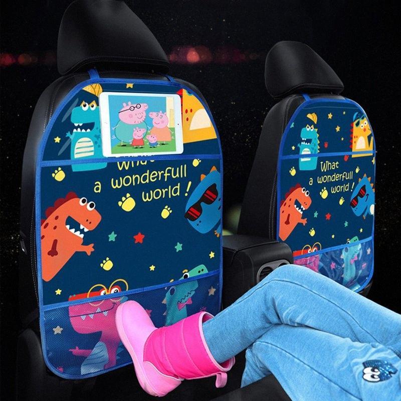 Cartoon-wasserdicht Auto-Rücksitz-Organizer Universal-Tablette-Standplatz hängende Beutel Car Styling-Speicher-Halter-Sitze Abdeckung Treten Mat Z99P #