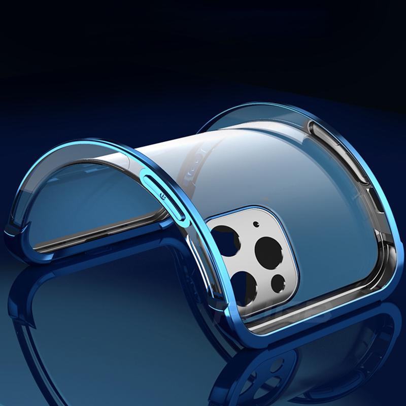 Подушка безопасности Ударосоипрочеонерное покрытие прозрачный чехол для iPhone 12 11 Pro XS Max Mini SE 2020 x XR 7 8 плюс роскошный мягкий четкий чехол TPU