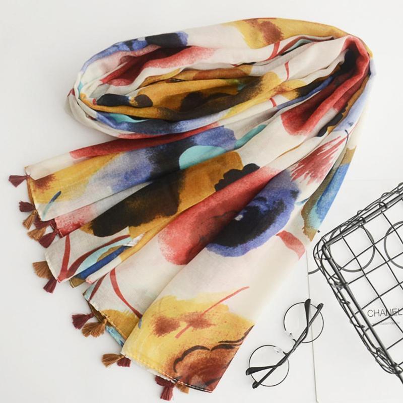 180x100cm mujeres verano bufanda flor chal viajes colorido protector solar playa toalla de playa