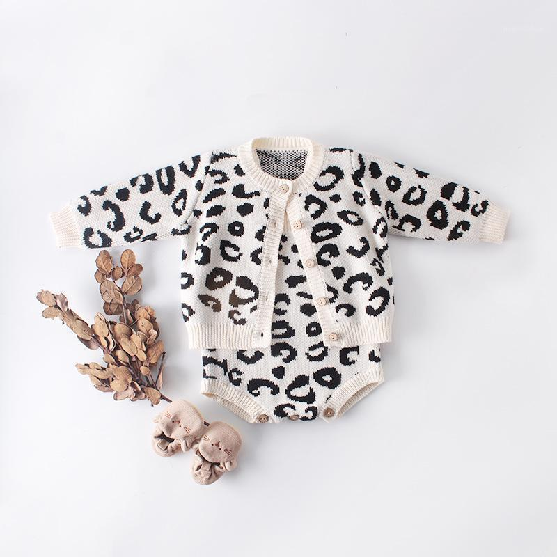 2020 Baby Baby Swddler Leopard Sweater de punto Cardigan Chaqueta Outwear Outwear and Knit Sling Rampers Niño Infantil Otoño Invierno Ropa1