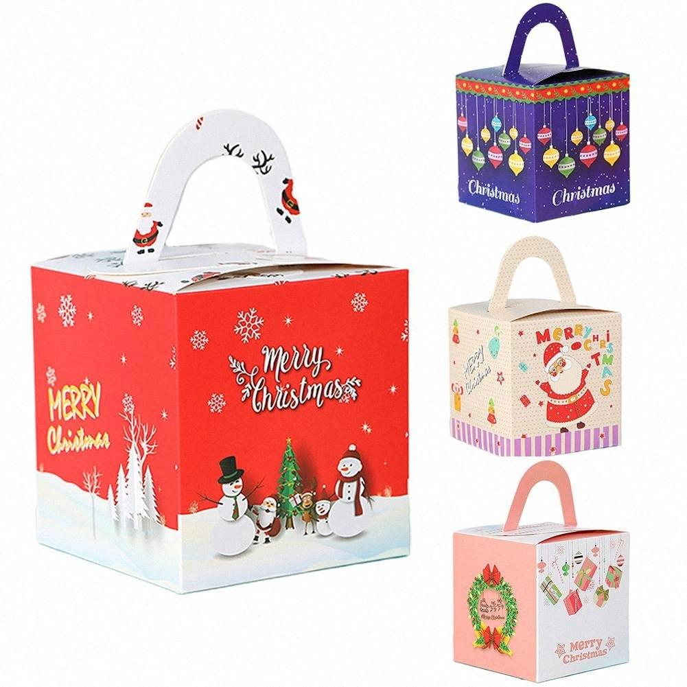 Heißes 20Pcs Weihnachtsfest behandelter Papierpralinenschachtel Träger Geschenk Verpackung Beutel Dekor 7d7s #