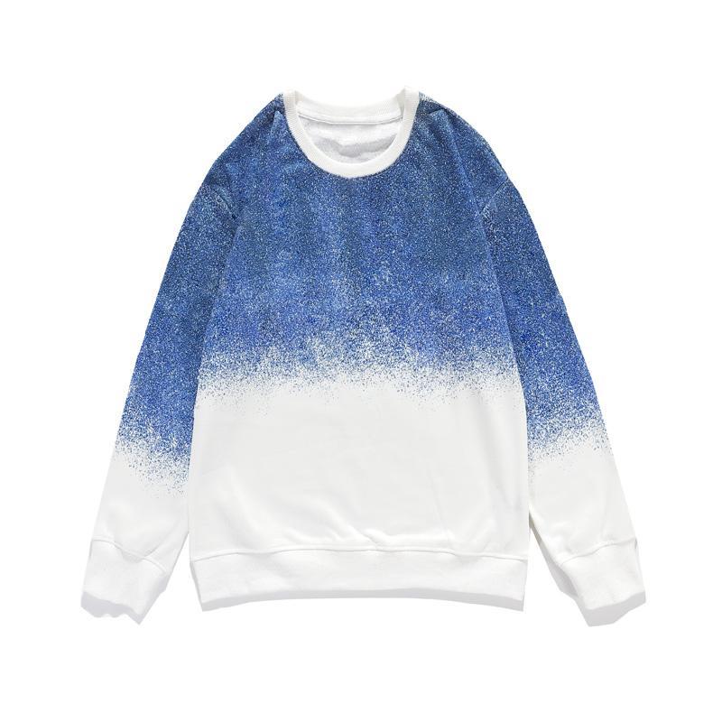 Yeni stil erkekler Kazak moda erkekler kadınlar yüksek kaliteli pamuk sweatshirt düz renk uzun kollu kazak boyut M-2XL