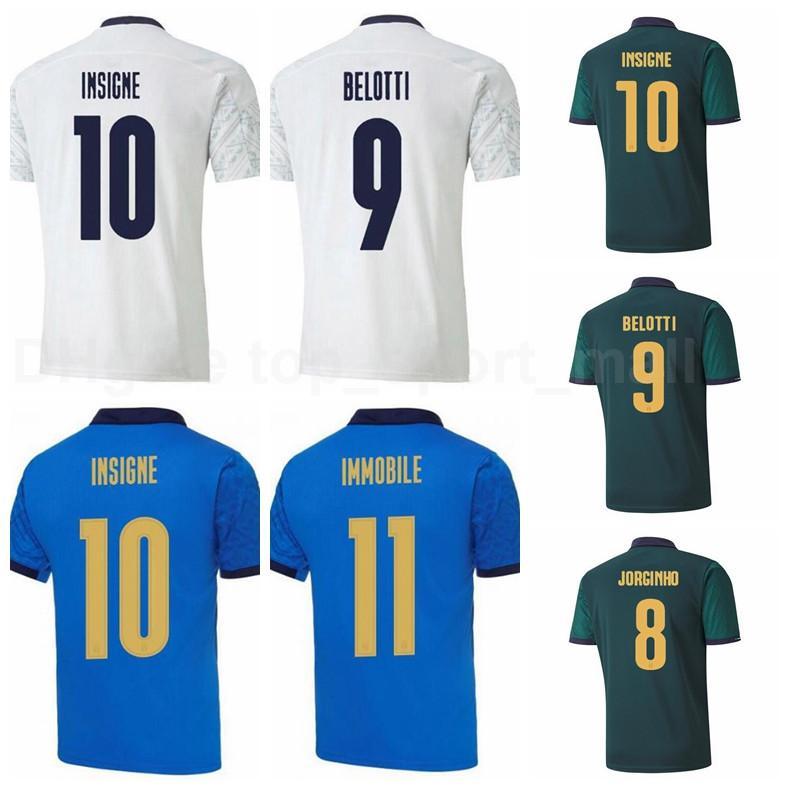 20-21 Männer 10 Insignente Fussball Jersey 9 Belotti 20 Bernardeschi 22 El Shaarawy 7 Florenzi 18 Barella 17 Immobil Football Hemd Kits Y-D-L