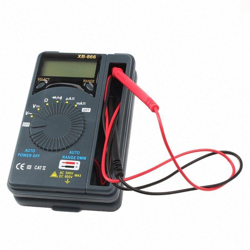 HONEYTEK Mini multimètre numérique avec la température Test de continuité AC / DC Courant Voltmètre transistor testeur numérique à plusieurs mètres hh7W #