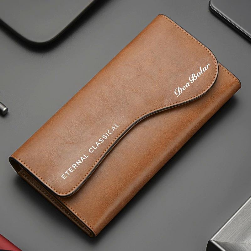 Herren Leder Geldbörsenkapazität Billeteras Para Hombre Double Reißverschluss Männer Kupplungsbeutel Portafoglio Uomo Männliche Business Brieftasche