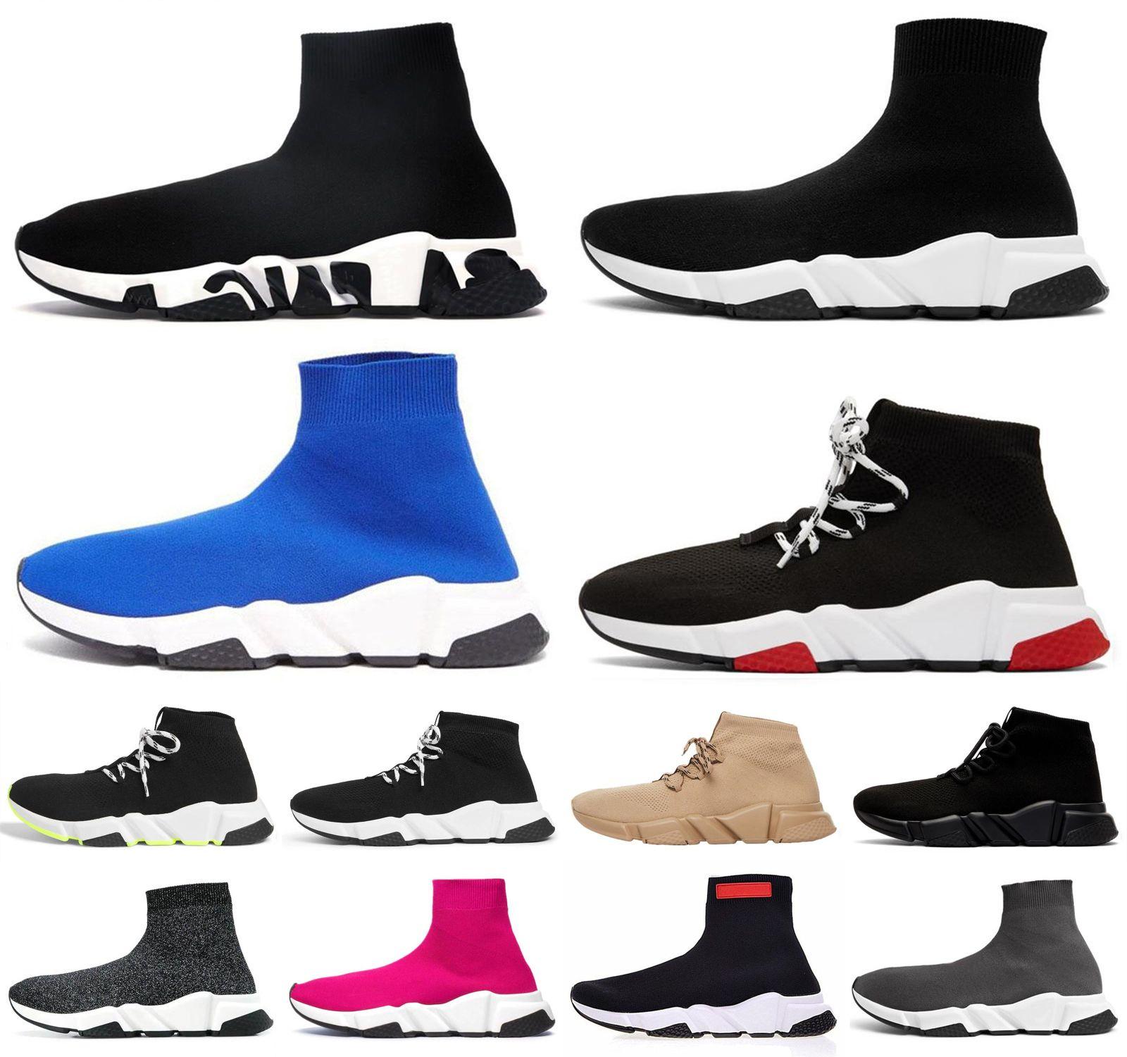 Balenciaga shoes الموضة المدربين منصة سرعة Toile أحذية رياضية Traniner الفاخرة النسائية الجوارب البيضاء عارضة الرياضة الأحمر موجة تمتد الانزلاق
