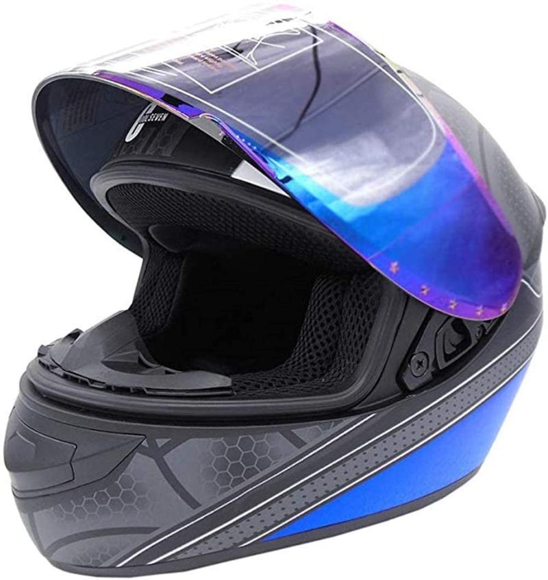 шлем паук, взрослая личность мотокросс мотоцикл ATV гоночных полный шлем, DOT / стандарт ЕСЕ, подарочные перчатки, черный, XL