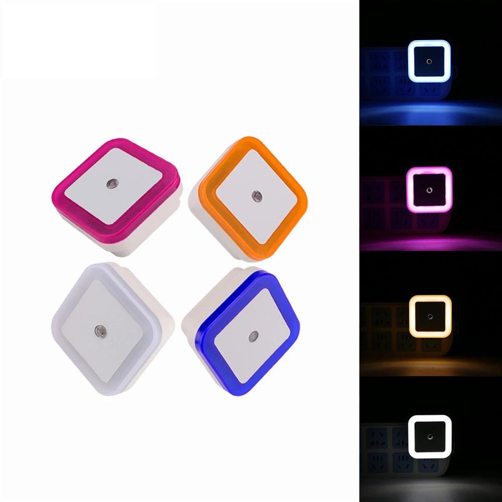 Беспроводной датчик LED Night Light EU США разъемные Мини площади Ночники для Детская комната Спальня Коридор Лампа