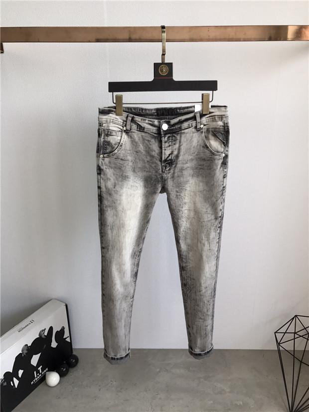 Новые поступления дизайнерские мужские джинсы молнию белые джинсы дизельные классики прямые случайные брюки ковбой знаменитый бренд дизайнер горячие продажи нам SZ 29-38