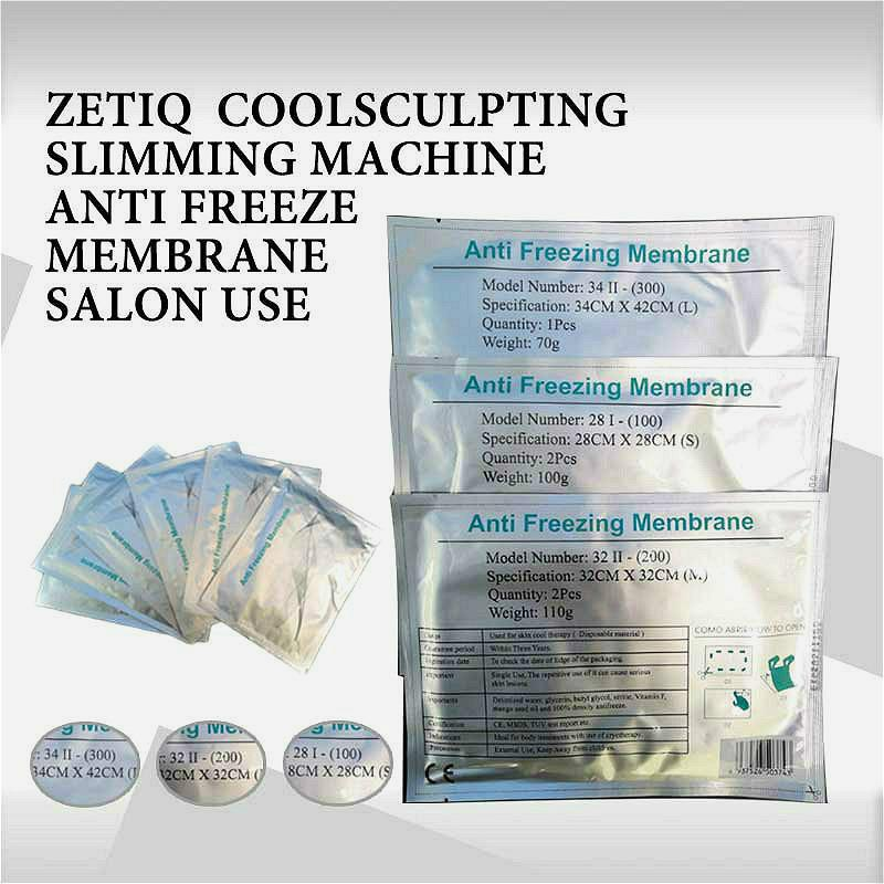 Anticongelante membranas 27 * 30cm Congelar Fat Anti Cooling Gel Pad anticongelante membranas para crioterapia Fat Congelamento Body Sculpting