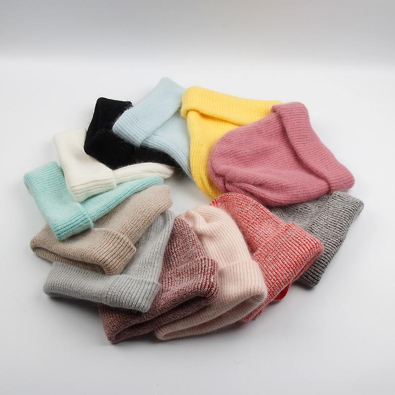 Hiver Womens Hat Squullies Heanie Chapeaux Tricotés Femmes Chapeau de laine extérieure pour Filles Gorras Bonnet Chapeaux tricotés