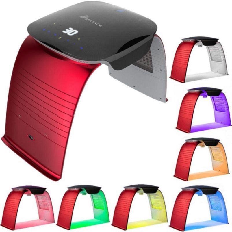 أحدث 7 ألوان PDT أدى ضوء آلة العلاج مع درجة الحرارة ورش الباردة