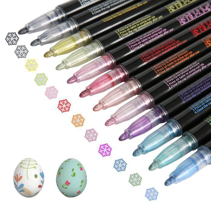Highlighter ручки Фантазия двойная линия Pen Контурная Ручки Флуоресцентные маркером принадлежности для рисования поздравительную открытку AHB2887
