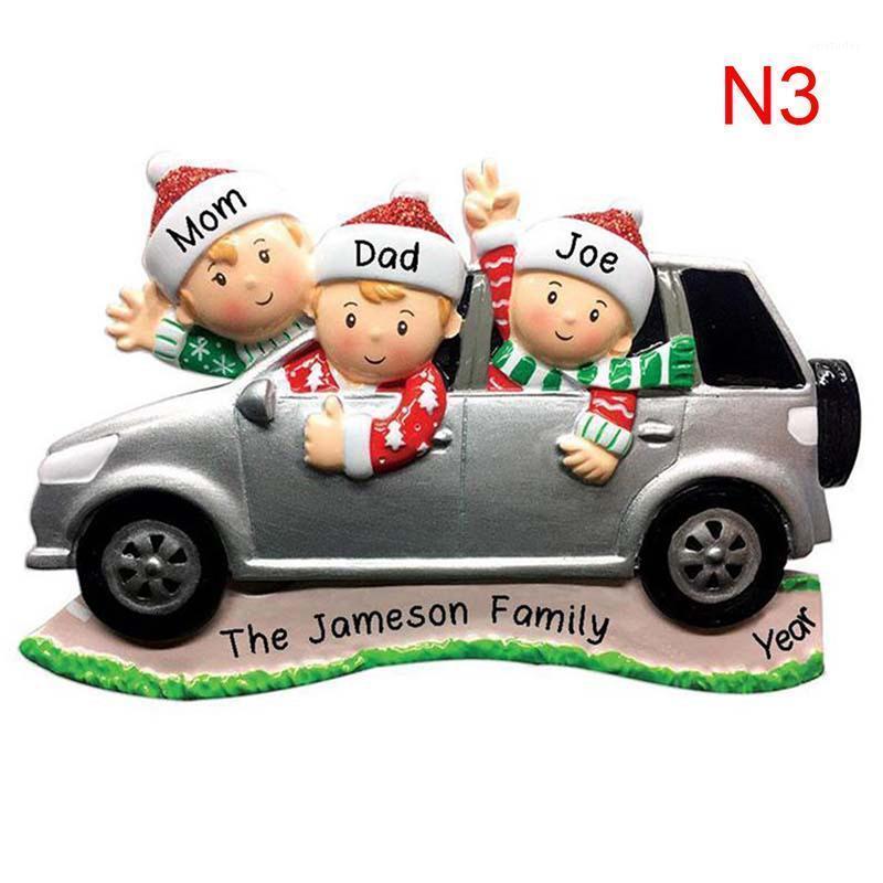 2020 Family Christmas Ornament DIY Name Blessing Christmas Tree Hanging Pendant1