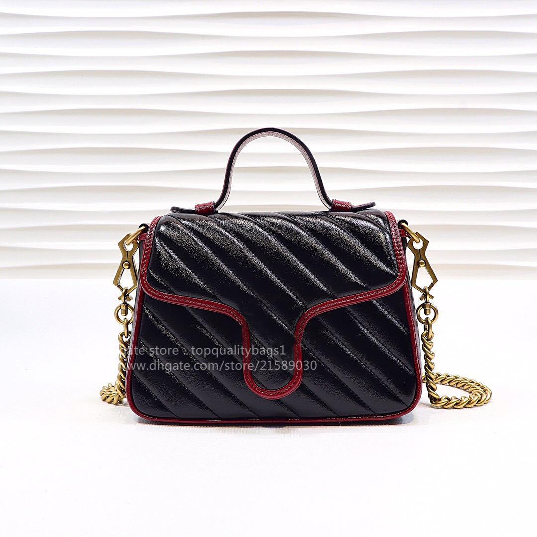2020 Hot Venduto Fashion Genuine Pelle Pelle Top Quality Women Lussurys Designer Borsa a tracolla Designer Classic Catena porta a catena borsa Shipin