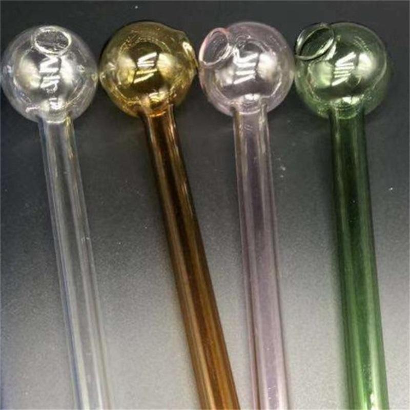 Heißer Verkauf Glasrohr Hohe Borosilikat Rauchwerkzeug Gläser Gerade Typ Multi Farben Handlöffel Rauchende Rohre Kostenloser Versand 2 6QF L2