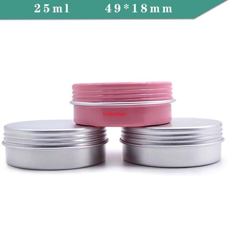 25G Rosa Black Almacenamiento Almacenamiento Especias Caja Café Caramelo Tailos Juego Conjunto Redondo Metal Lip Balm Tins Para Sp SpicesPlas Orden