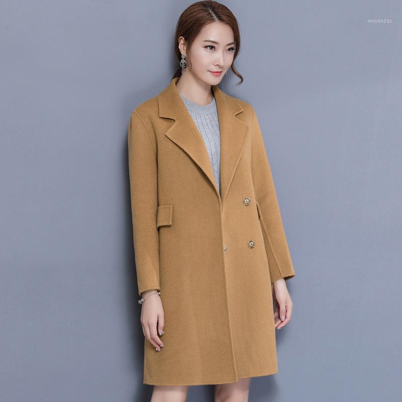 Abrigo de lana de lana de cintura ancha abrigo de caza de cashmere chaqueta elegante damas coats1