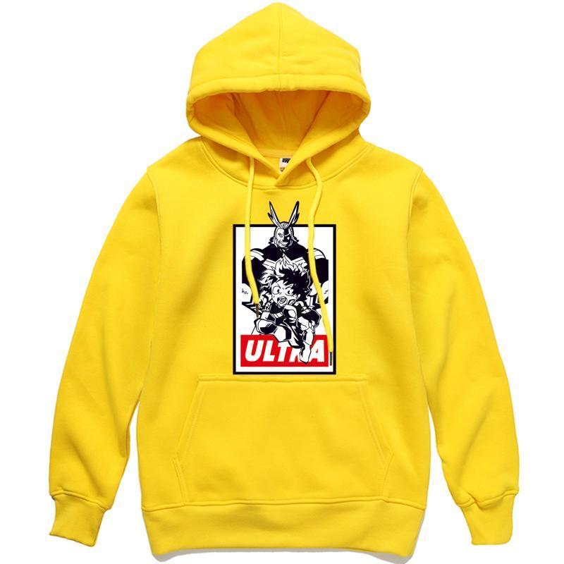 Herren Hoodies Sweatshirts 2021 Ankunft Männer Mein Held Akademie Alle Midoriya Izuku Pullover Male Hip Hop Streetwear Hoody Hipster Tracks